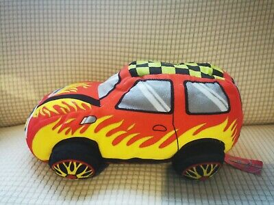 Yellow Racer Car - Character Co - Soft Toy PMS • 0.99£