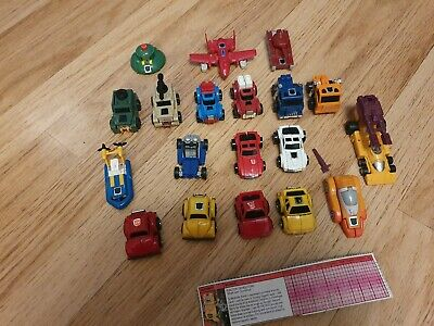 Transformers G1 Mini Bots Bundle - 19 Vehicles - Used But Very Good Condition • 80£