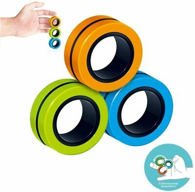Anti Stress Relief Magnetic Rings Finger Spinner Anxiety Focus Toy  • 2.59£