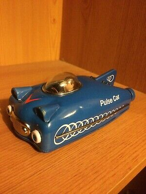 Tinplate Friction Power Pulse Car. Good Condition. • 1£
