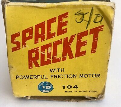 1960s Hong Kong Vintage Friction Plastic Space Rocket LP Toys Empire Made • 29.99£
