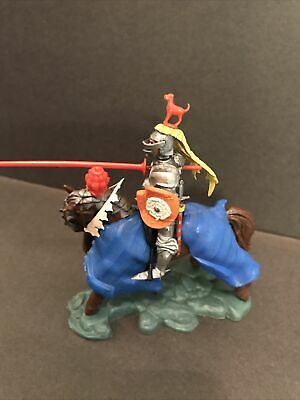 Britains Herald Swoppet Mounted Knight 1451 Charging Early Original Complete • 56£