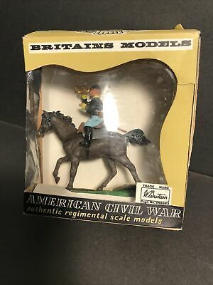 Britains Swoppet ACW Mounted Federal Bugler 452 Boxed Rare Original Example • 22£