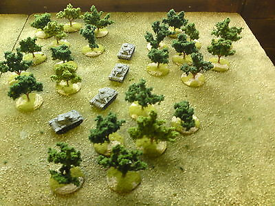 12 X 15mm Sculptured Trees Suitable For Flames Of War • 18£