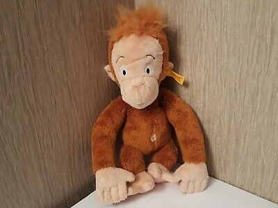 New Steiff Monkey 10  Soft Toy Plush With Button To Ear Stuffed Animal  • 25£