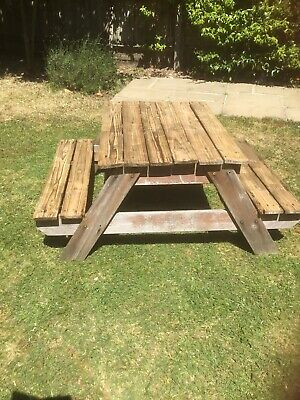 Plum Sandpit And Picnic Bench • 30£