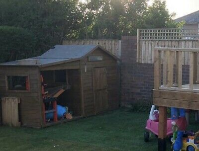Children's Wooden Playhouse. 8 X 4 Foot. Used And Dismantled. • 75£