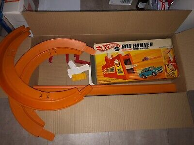 Vintage Hot Wheels Rod Runner (Boxed) + Track & Other Pieces  • 75£