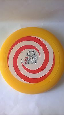The Cat In The Hat Frisbee Outdoor Toy Dr Seuss Universal Studios Yellow Red New • 10£