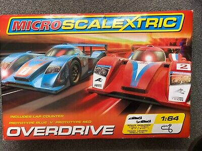 Micro Scalextric Pro Driver 1:64 Scale Racetrack Good • 18£