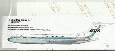 S&M Decals 44-129 Vickers VC10 British United Decals In 1:144 Scale • 10£