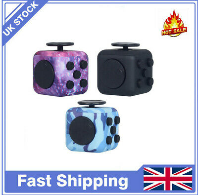 Fidget Cube Spinner Toy Children Desk Adult Stress Relief Cubes ADHD UK Camo New • 4.96£
