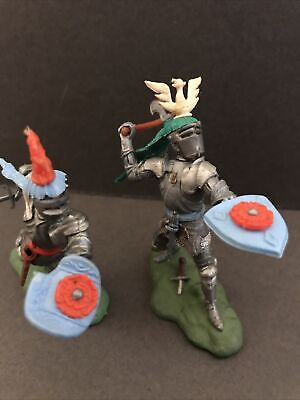Britains Herald Swoppets 2 Foot Knights 1471 & 1474 Rare Original Examples • 22.66£