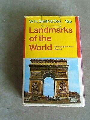 Vintage W.H. Smith, Landmarks Of The World, Card Game  VGC • 1.99£