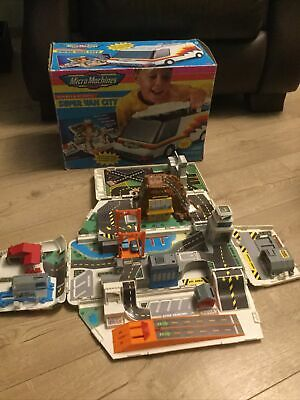 Vintage Micro Machines Super Van City Playset, 1991, Galoob, Boxed • 49.99£