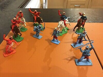 Nice Selection Of 10 Vintage Crescent Foreign Legion & Arab Soldiers • 12.50£