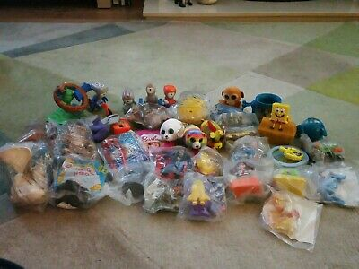 Bundle Of Mixed, Old, Mcdonalds Happy Meal Toys New And Used (set 4) • 22£