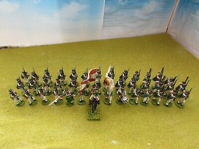 41 X 28mm Napoleonic Russian Infantry & Command Painted *Perry Miniatures* • 21£