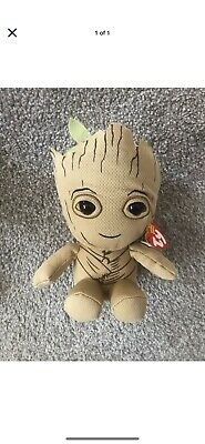 "Ty Marvel 7"" Groot Beanie Plush Soft Toy Brand New With Tags • 4£"