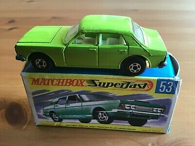 Matchbox Superfast 53 Ford Zodiac Lime Green Original And Boxed • 64.99£