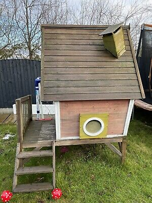 Childrens Wooden Playhouse Kids Garden Outdoor Play Den - Crooked House RRP:£450 • 80£