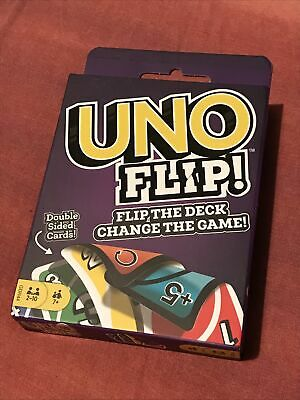 Uno Flip Card Game Mattel Multi Colored Exciting Twists Family Fun Children Pack • 2.10£