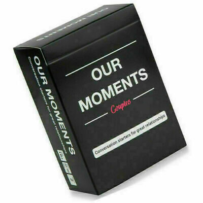 Our Moments Cards Couples Board Game 100 Thought Provoking Conversation Starters • 7.98£