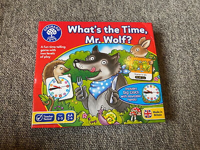 Brand New Orchard Toys What's The Time, Mr. Wolf?  Number/Counting Toys Age 5-9 • 7£