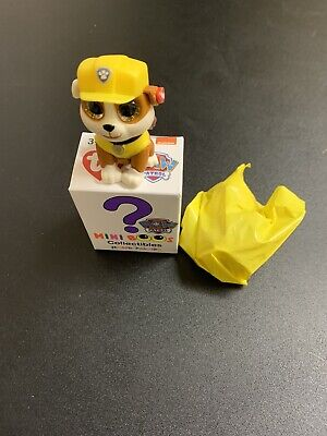 Ty Mini Boos Paw Patrol Rubble Brand New Still In Bag And Box • 4£