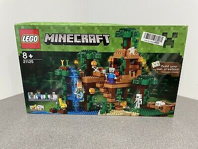 Lego Minecraft 21125 The Jungle Treehouse 100% Complete With Instructions & Box • 140£