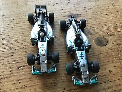 CARRERA AMG PETRONAS F1 CARS SLOT RACING CARS 🏎 Untested X Two • 25£