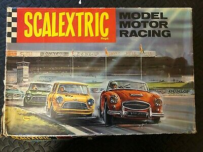 Vintage 1960s Scalextric Set 33 With Two Classic C76 Mini Cars Front Wheel Drive • 59.99£