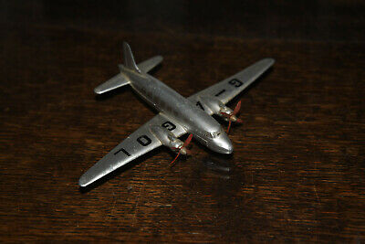 DINKY Aeroplane No.70c Viking Air Liner - 1947-49 - Silver With Two Props • 10£