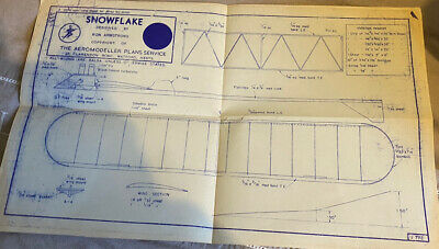 Snowflake Plan Designed By Ron Armstrong The Areomodeller Plan Service  • 7.50£