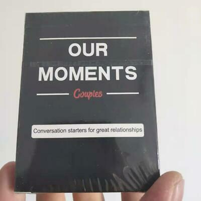 Our Moments Cards Couples Board Game 100 Thought Provoking Conversation Starters • 7.99£