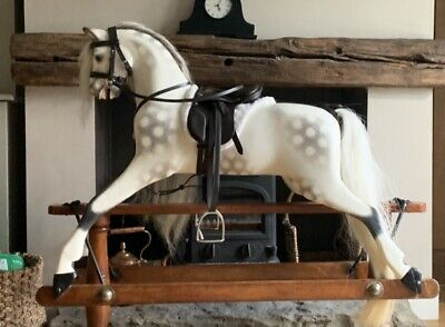 Traditional Antique Wooden Lines Bros Sportiboy Rocking Horse Child's Gift • 2,200£