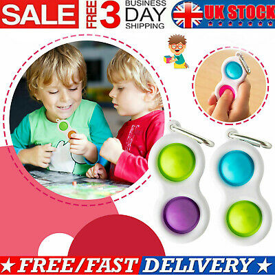 Simple Dimple Sensory Fidget Toy Silicone Flipping Board Kids Adult Gift UK 2021 • 4.69£