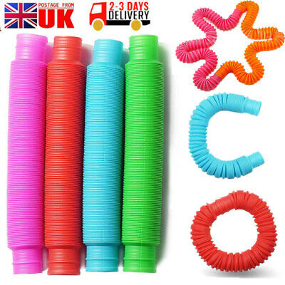 Fidget Pop Tube Toys Sensory Stretch Pipe Tools Decompression Stress 1/6/12PCS • 5.99£