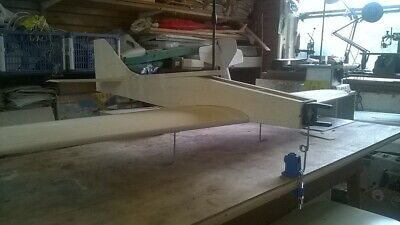 Crescent Bullet Balsa Wood Aeroplane Model With Brand New Engine • 75£