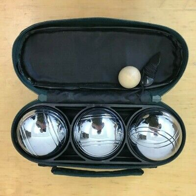 Vintage Metal Petanque Boules Set Of 3 With Original Carry Case Very Heavy • 6.25£
