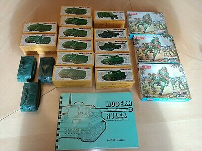 Vintage Airfix US Military Soldiers And ArtilleryModels • 32£