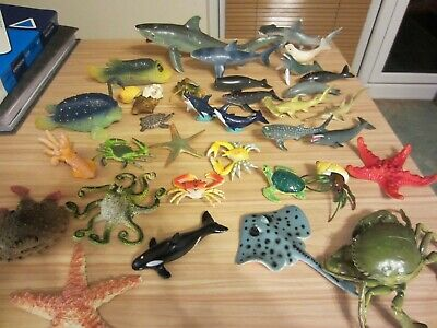 Numerous Assorted Sealife Creatures For Play (36) • 6£