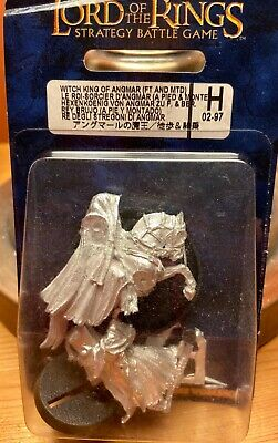 Games Workshop - LOTR Witch King Of Angmar (Metal) On Foot And Mounted In Box • 0.99£