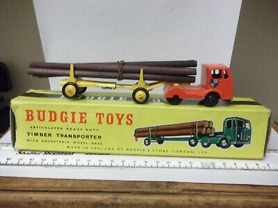 1960's Budgie Log Truck  In Good Condition - One Box End Flap Photocopied • 25.99£