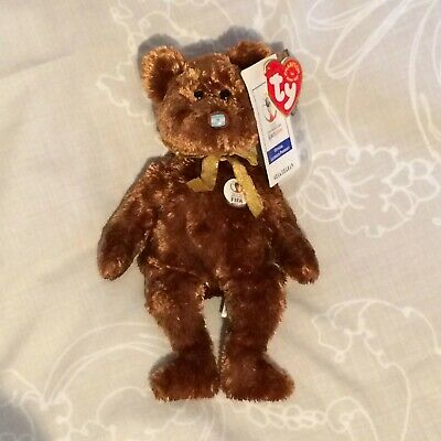 Ty Beanie Baby Champion Bear Argentina FIFA World Cup 2002 With Tags • 12.50£