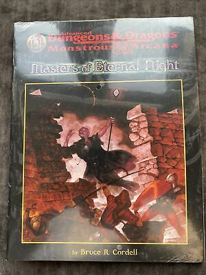AD&D Monstrous Arcana Masters Of Eternal Night 9571 Shrink Wrapped  Levels 7-9 • 25£