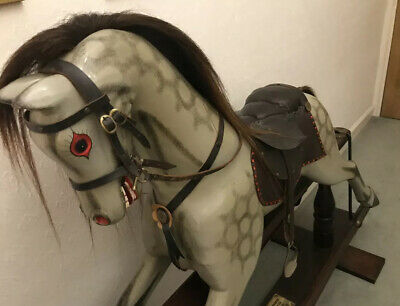 Rocking Horse Dapple Grey Dark Wood Base Millennium Ltd Edit 292/500 Beautiful • 525£