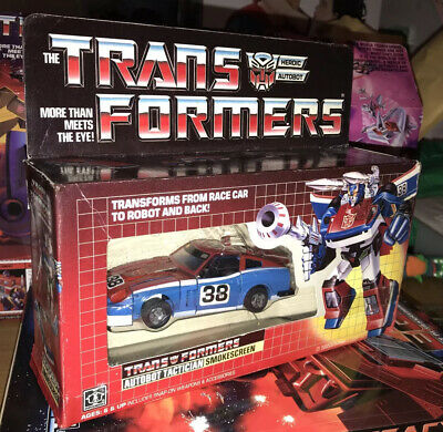 Transformers G1 Smokescreen Boxed Rare Comes Complete. Autobots. Vintage 1984. • 110£