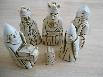 Isle Of Lewis Fantasy Model Resin Chess Set In Teak (brown) & Ivory Effect  • 37.50£