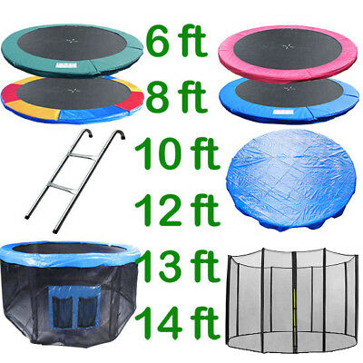 6 8 10 12 13 14 Ft Trampoline Replacement Pad Safety Net Rain Cover Ladder Skirt • 77.99£